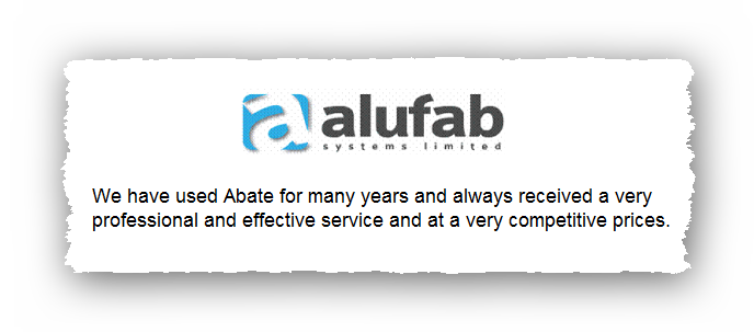 This is an image of a commercial testimonial from Alufab for Pest Control Glossop.