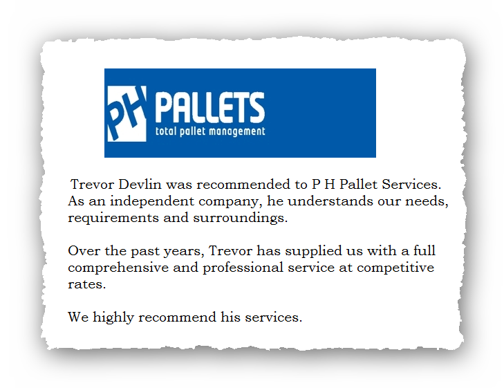 This is an image of a commercial testimonial from PH Pallets for Pest Control Glossop.