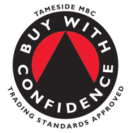 This is an image of the Trading Standards Buy With Confidence scheme logo. Pest Control Glossop & Abate Pest Control Services are a members of the scheme.